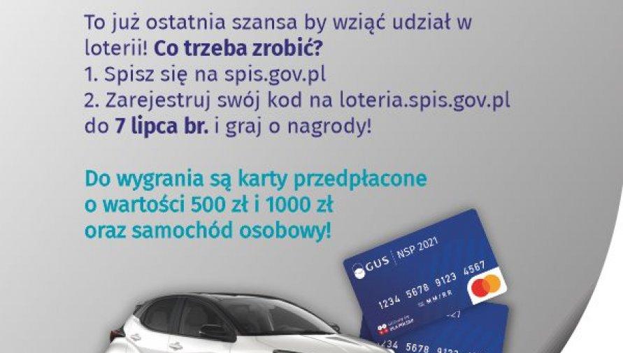 Narodowy Spis Powszechny 2021- Loteria